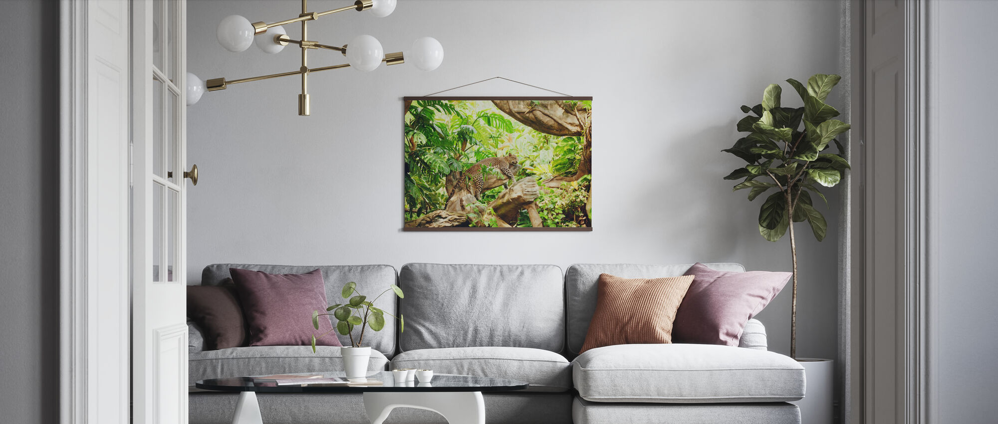 Leopard Dozing in the Jungle - Poster - Living Room