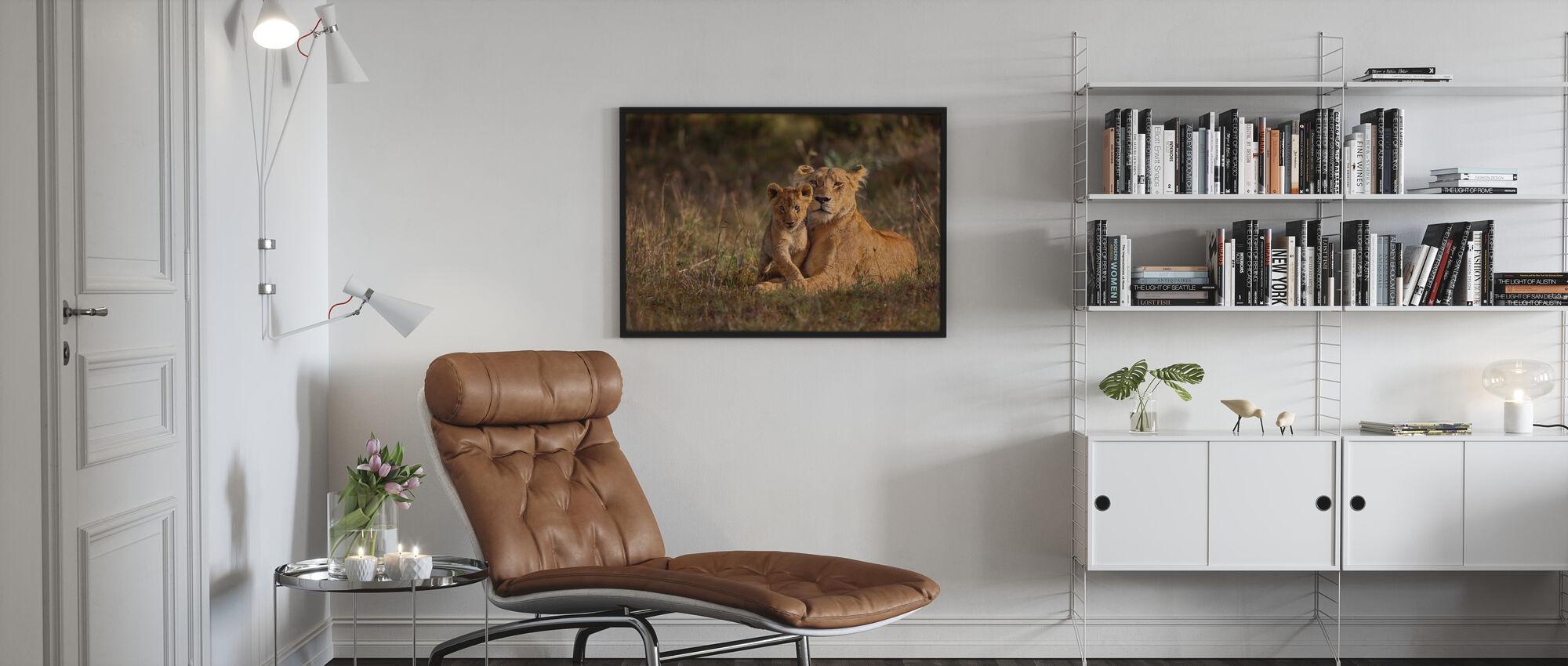 Leone Madre e Cucciolo - Poster - Salotto