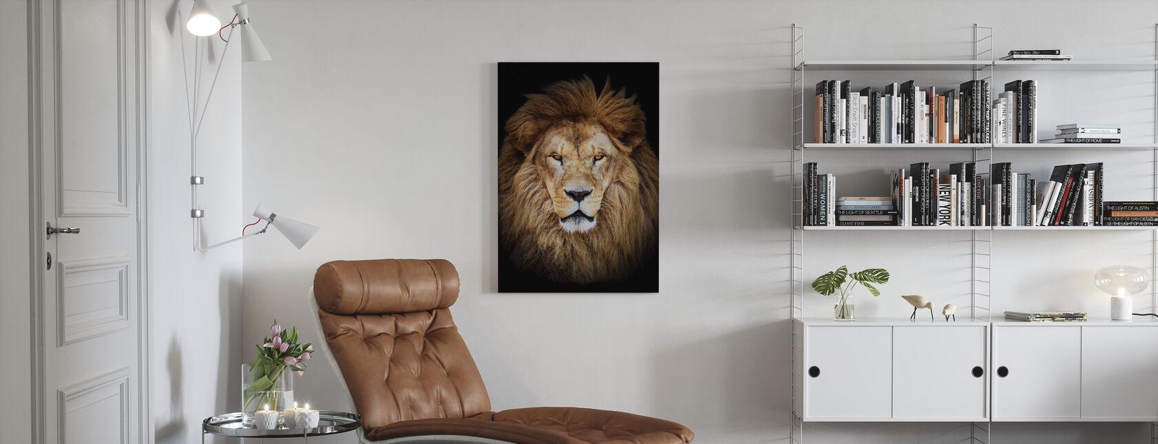 Majestetiske løve - Lerretsbilde - Stue