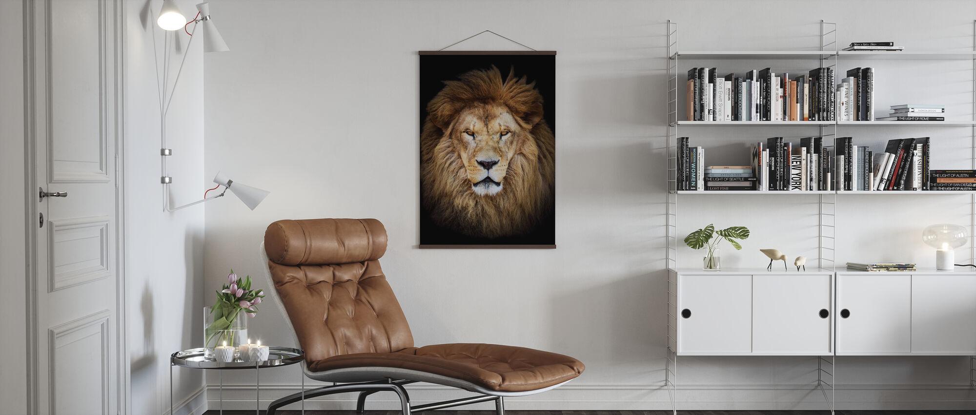 Majestätischer Löwe - Poster - Wohnzimmer