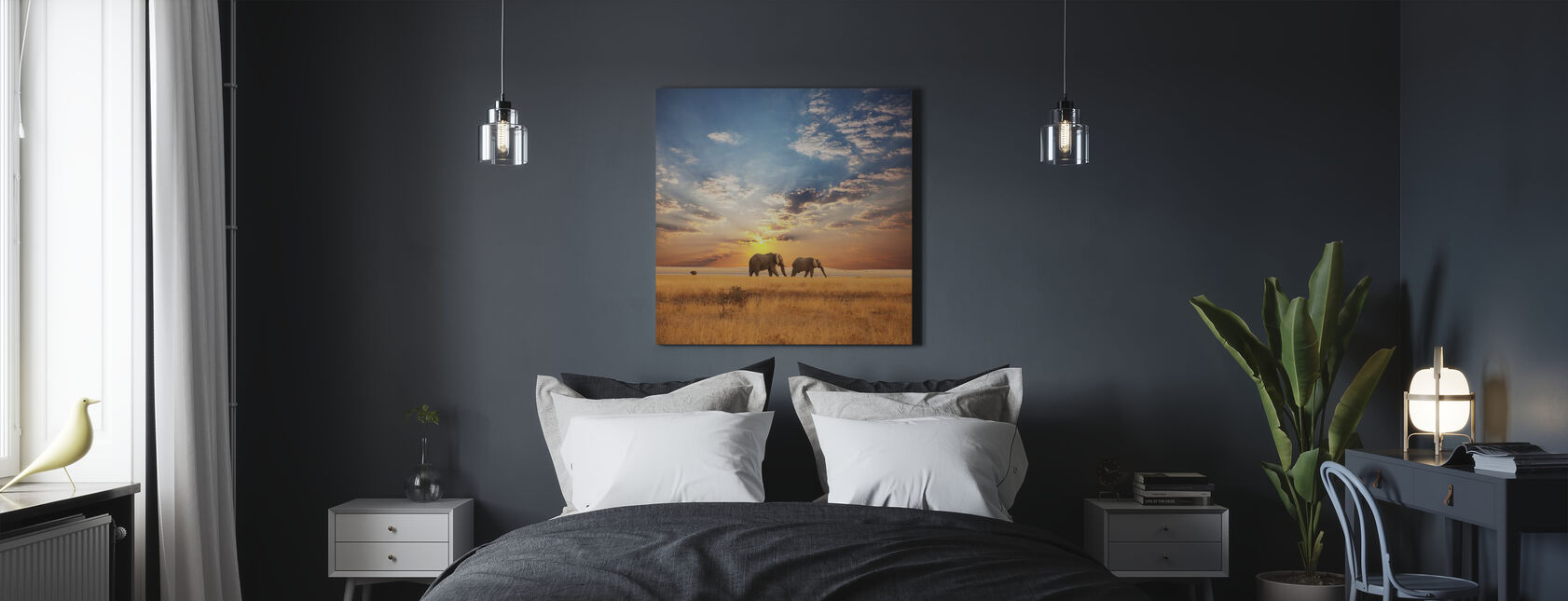 Tramonto della Savannah - Stampa su tela - Camera da letto