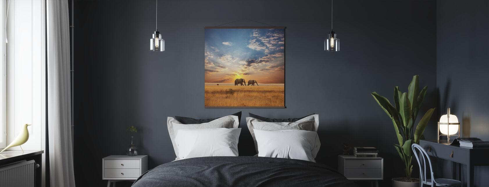 Savannah solnedgång - Poster - Sovrum