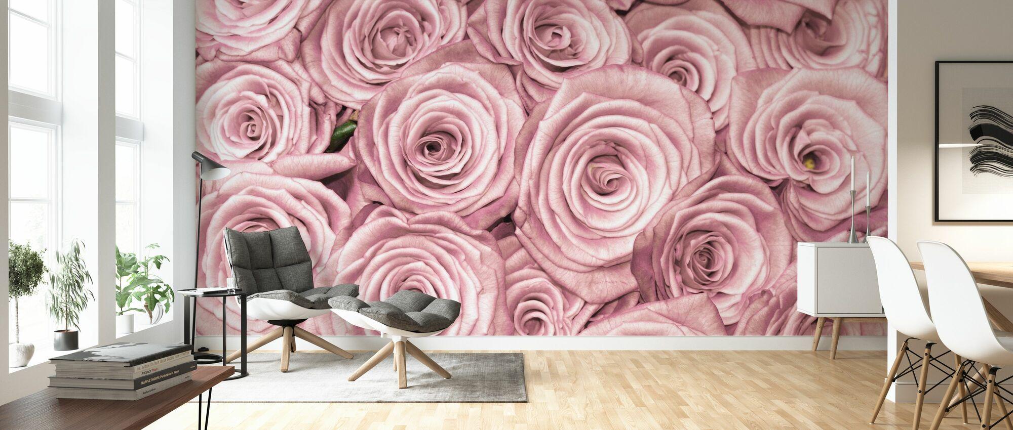 Vegg av roser - Tapet - Stue