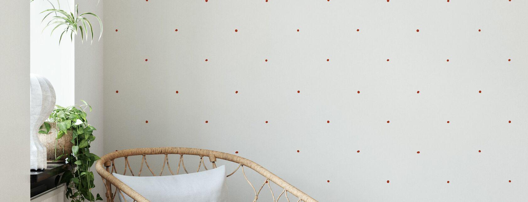 Berries Red - Wallpaper - Living Room