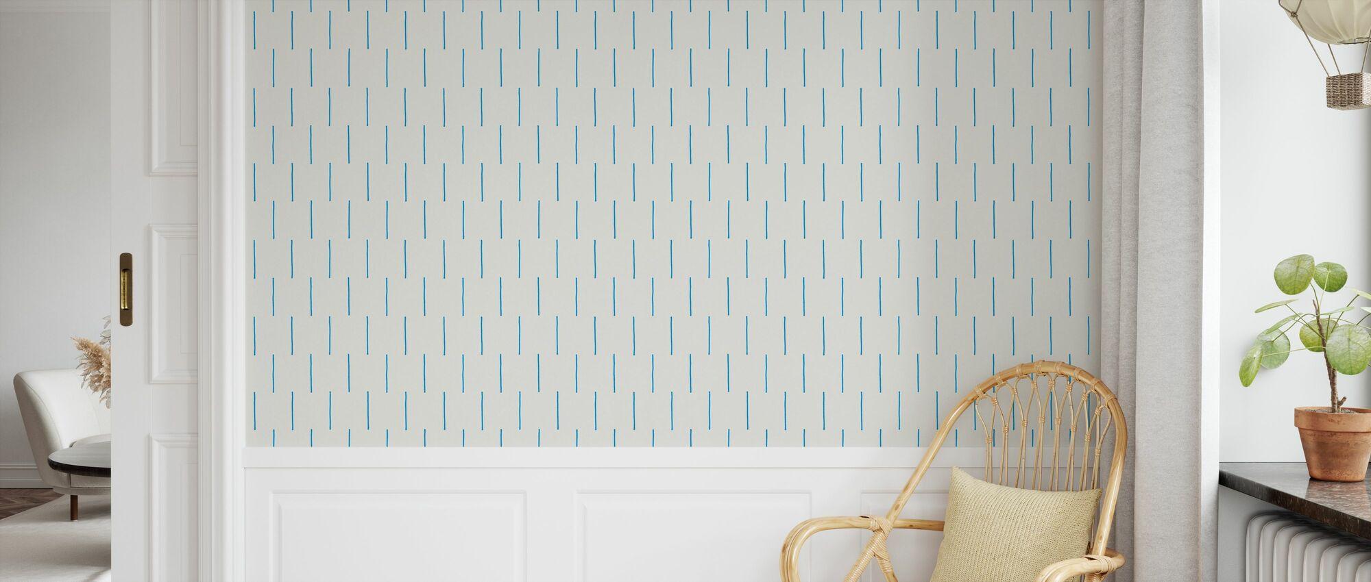 Rain Blue - Wallpaper - Kids Room