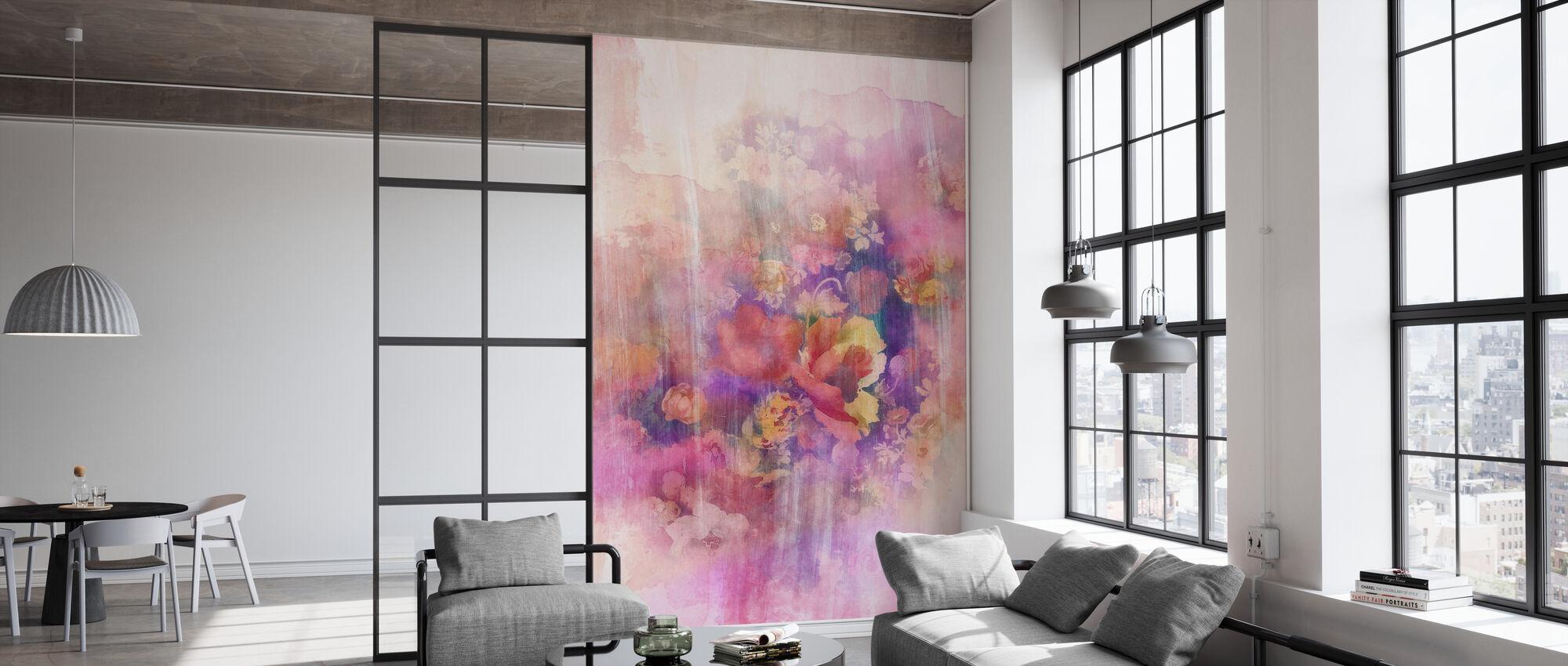 Smokey Floral April - Behang - Kantoor