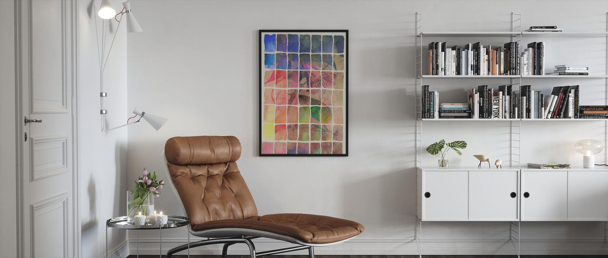 Smokey Floral Rainbow - Poster - Living Room