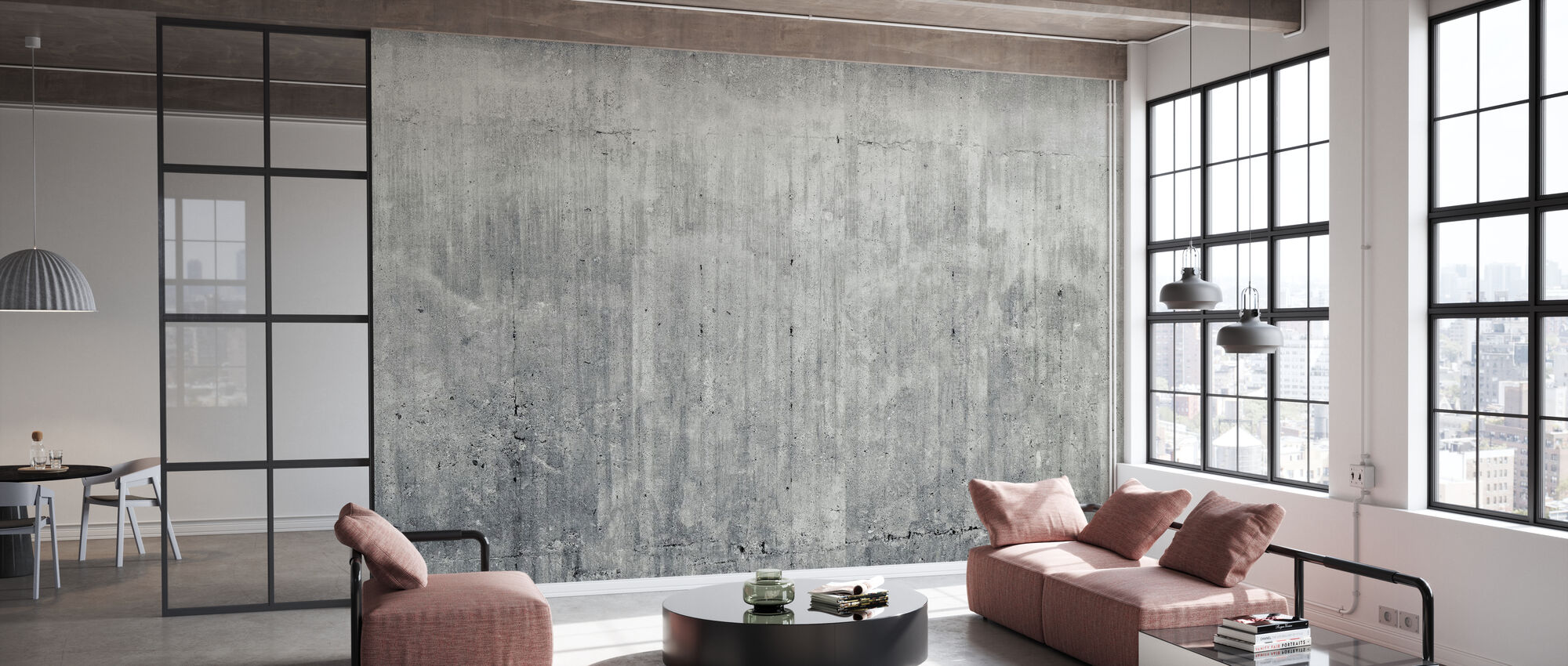 Grunge Concrete Wall - Wallpaper - Office