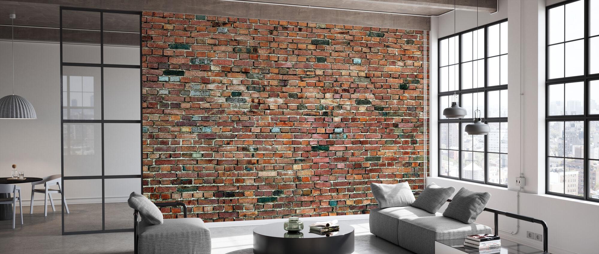 Stockholm Brick Wall - Wallpaper - Office