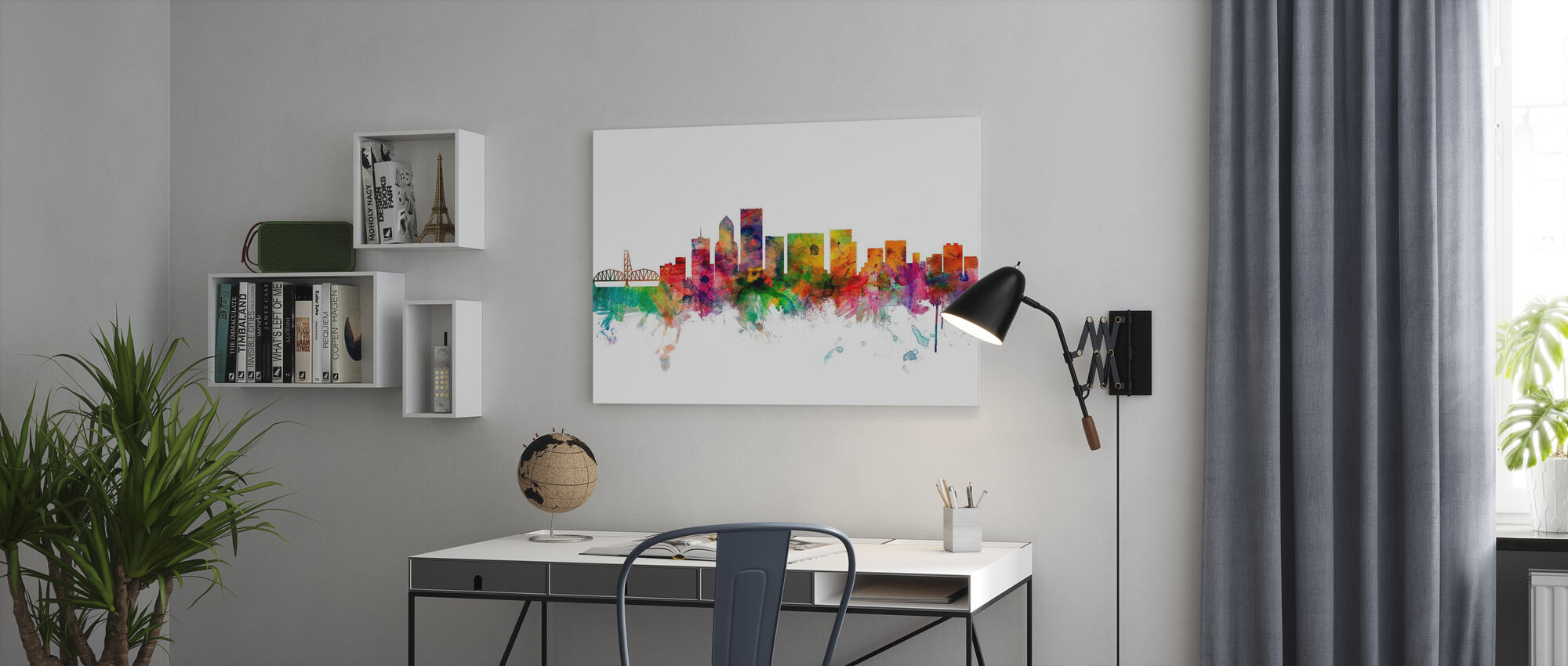 Portland Oregon Skyline - Canvas print - Kantoor