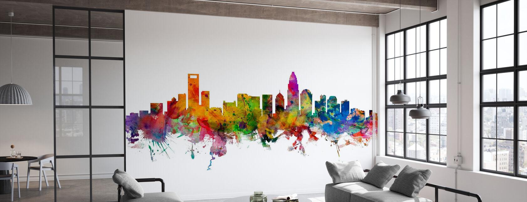 Charlotte North Carolina Skyline - Wallpaper - Office
