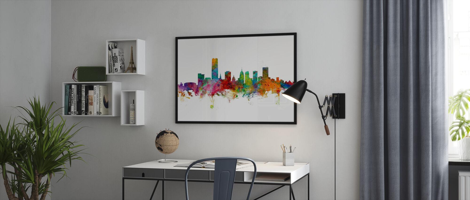 Oklahoma City Skyline - Framed print - Office