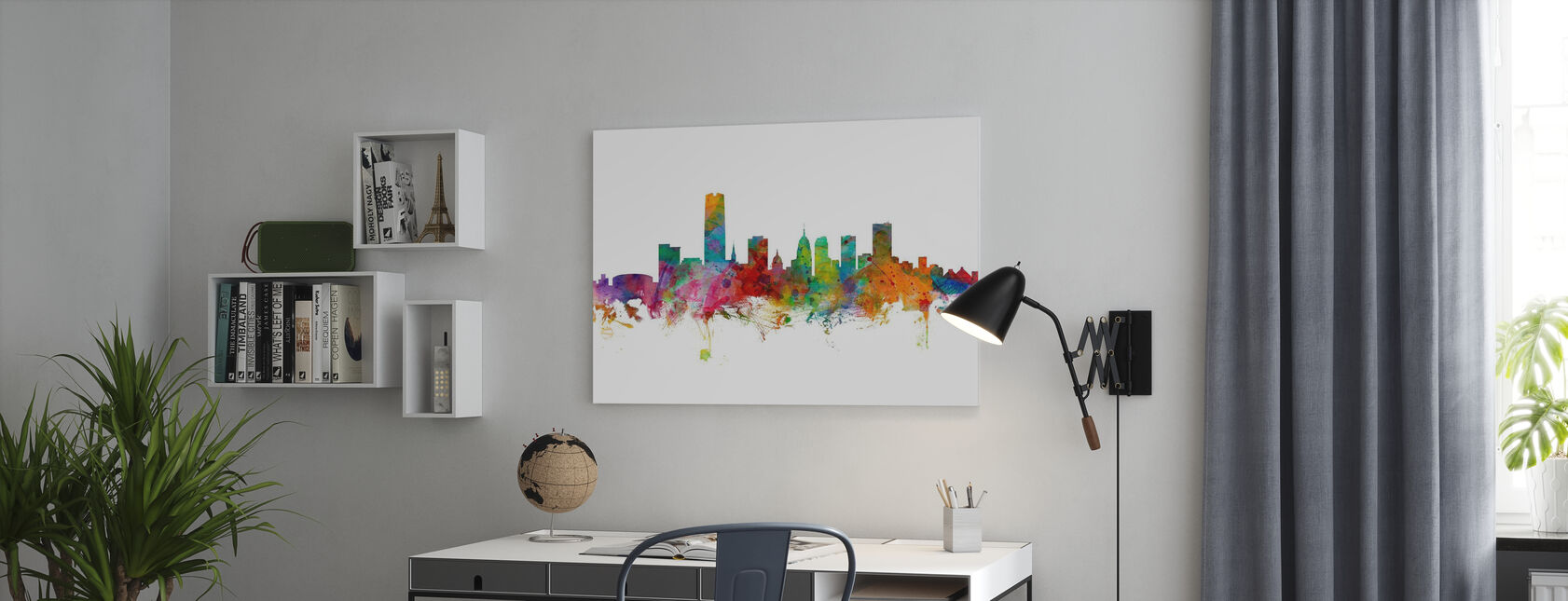 Oklahoma City Skyline - Canvas print - Office