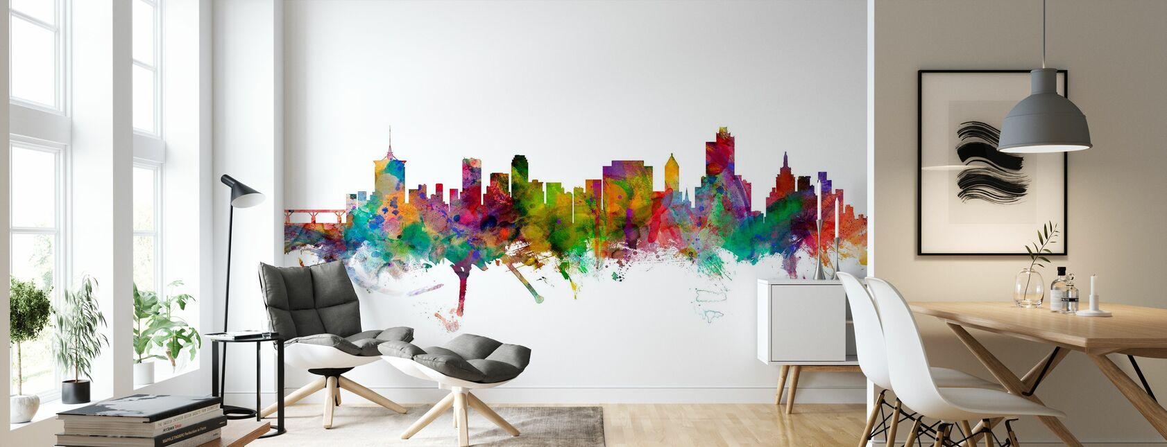 Tulsa Oklahoma Skyline - Wallpaper - Living Room