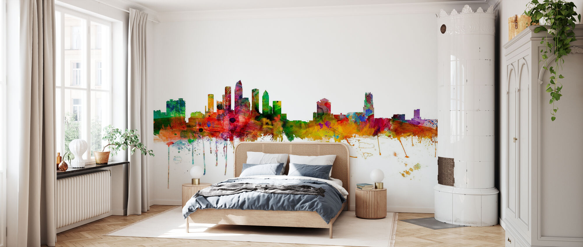 Tampa Florida Skyline - Wallpaper - Bedroom