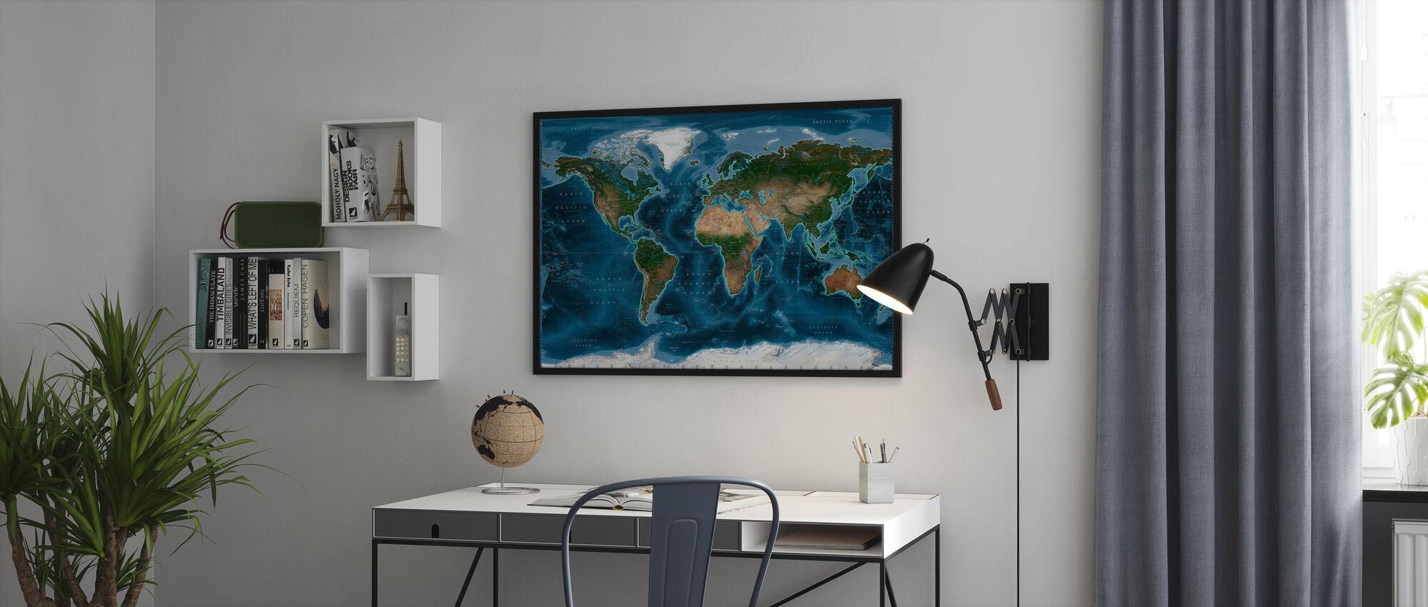 Satelite Kort - Innrammet bilde - Kontor