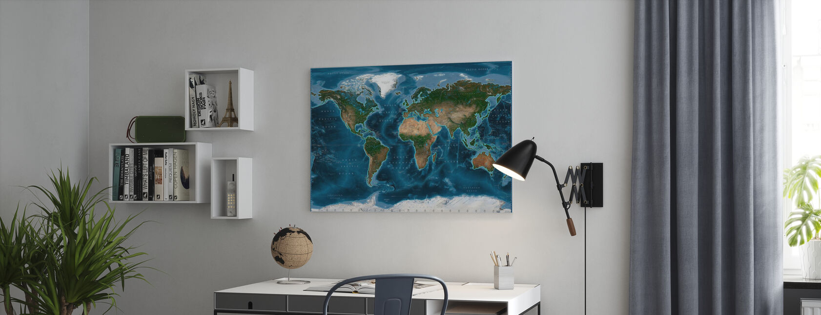 Satelite Karta - Canvastavla - Kontor