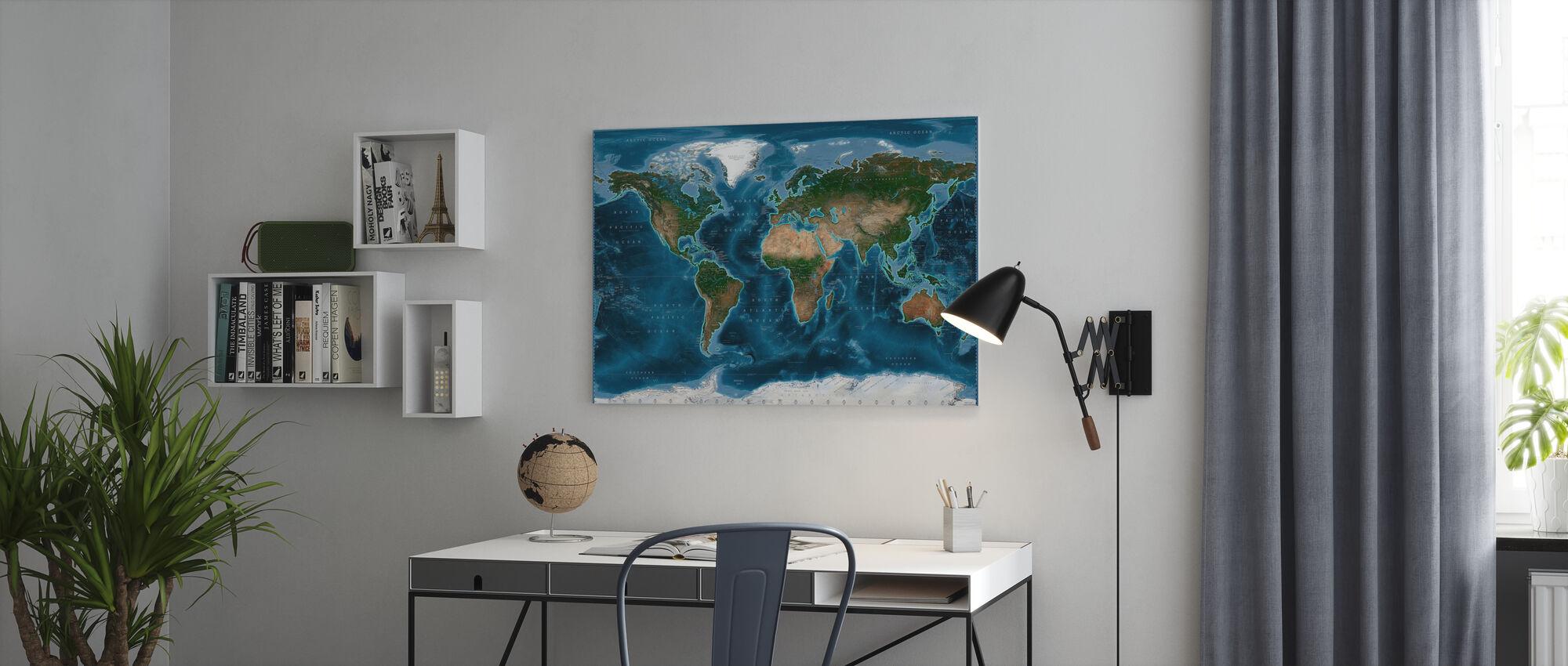 Satelite Kaart - Canvas print - Kantoor