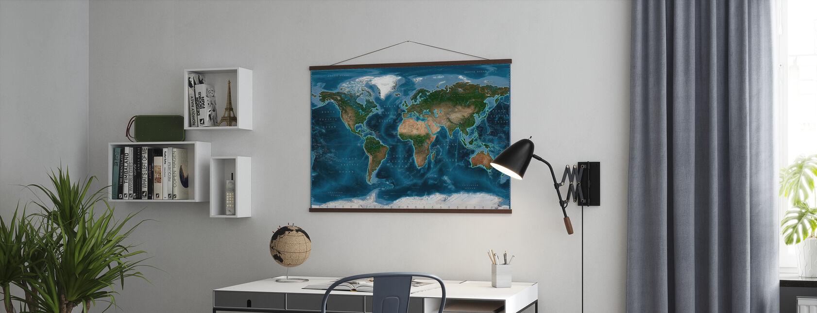Satelite Karta - Poster - Kontor