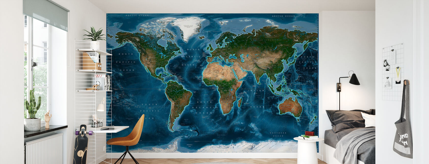 Satelite Karta - Tapet - Barnrum