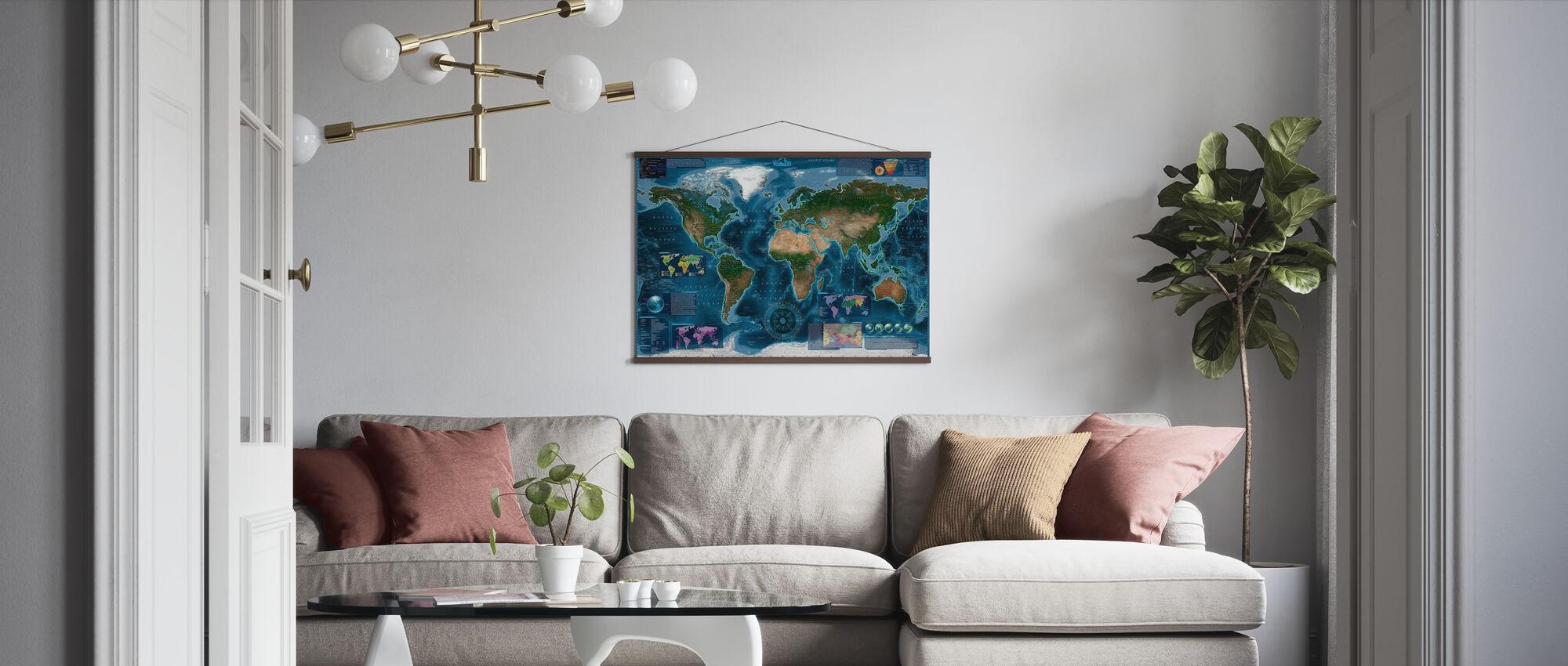 Satelite Kort Infographic - Plakat - Stue