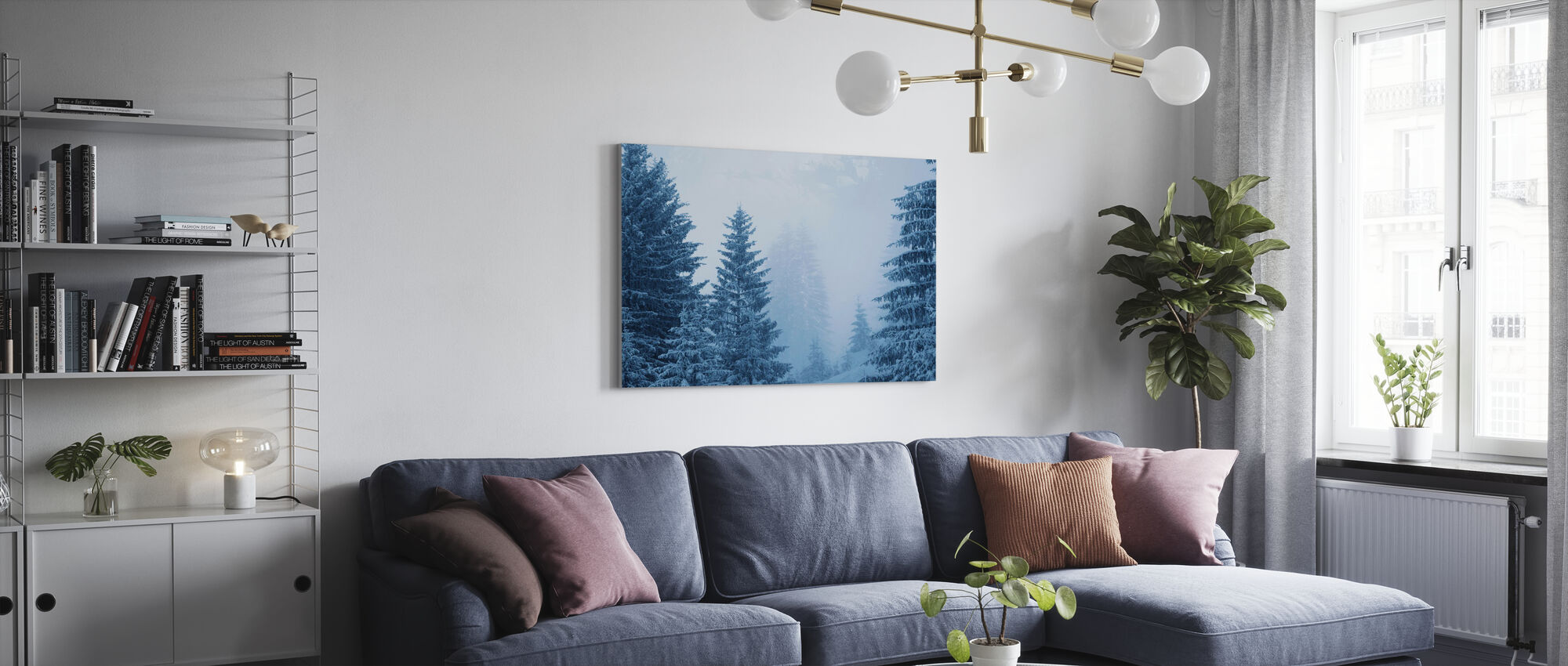 Coniferous Forest in Austria, Europe - Canvas print - Living Room
