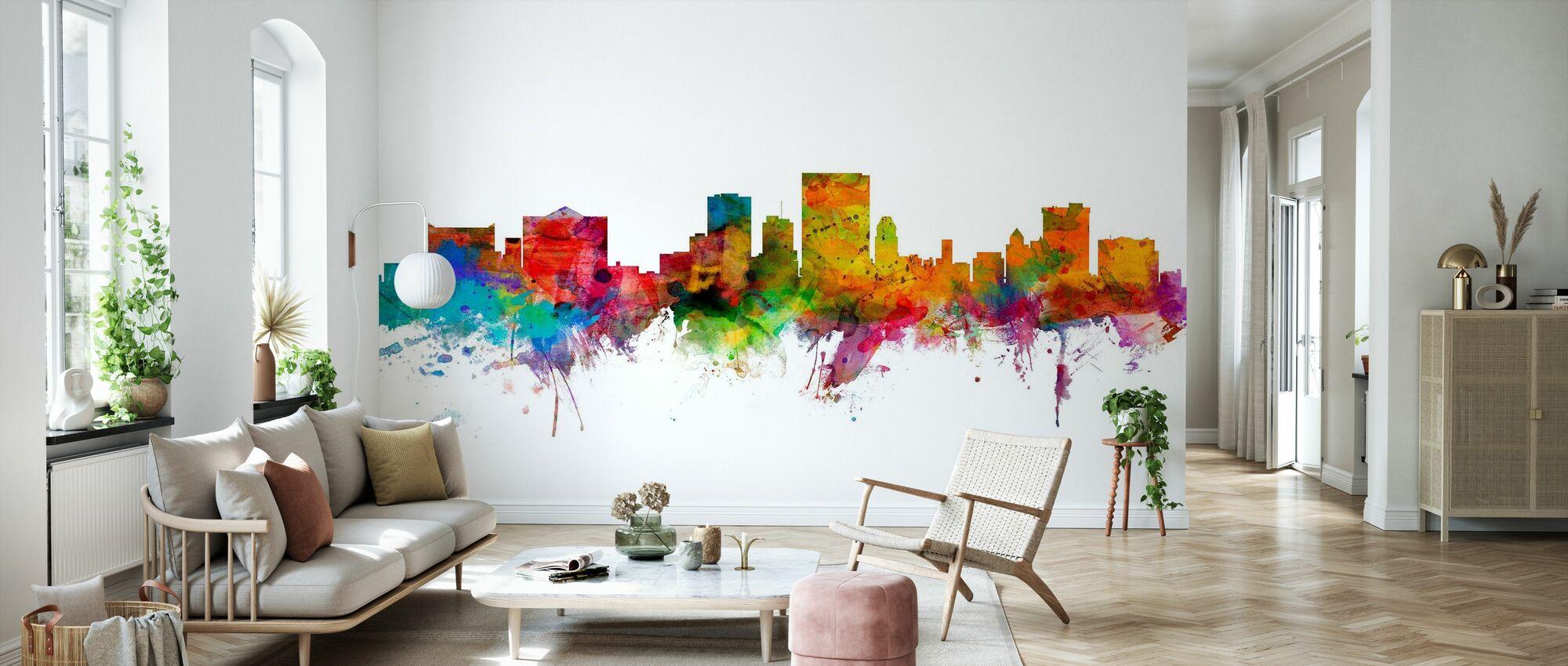 El Paso Texas Skyline - Wallpaper - Living Room