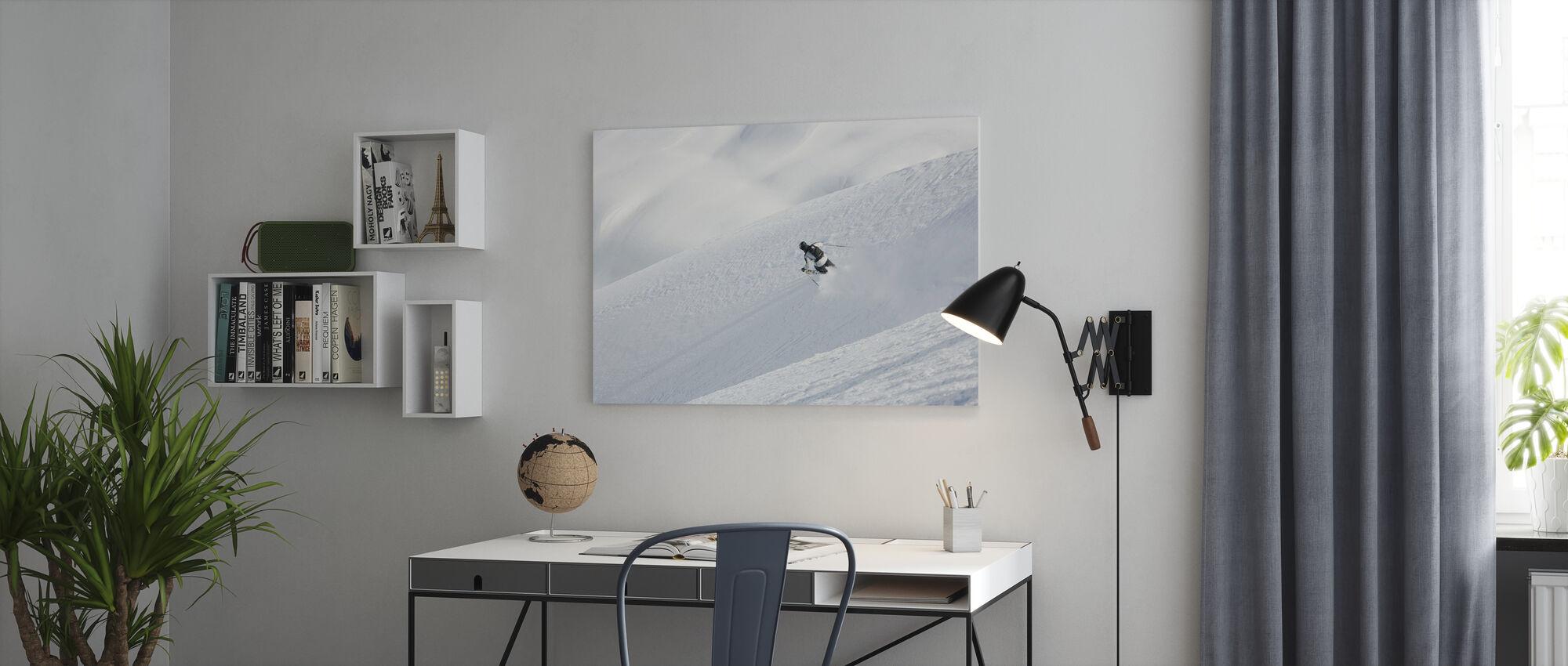 Ski hors piste à Chamonix, France, Europe - Impression sur toile - Bureau