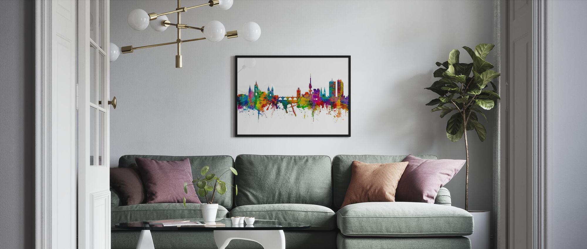 Prag Skyline - Inramad tavla - Vardagsrum