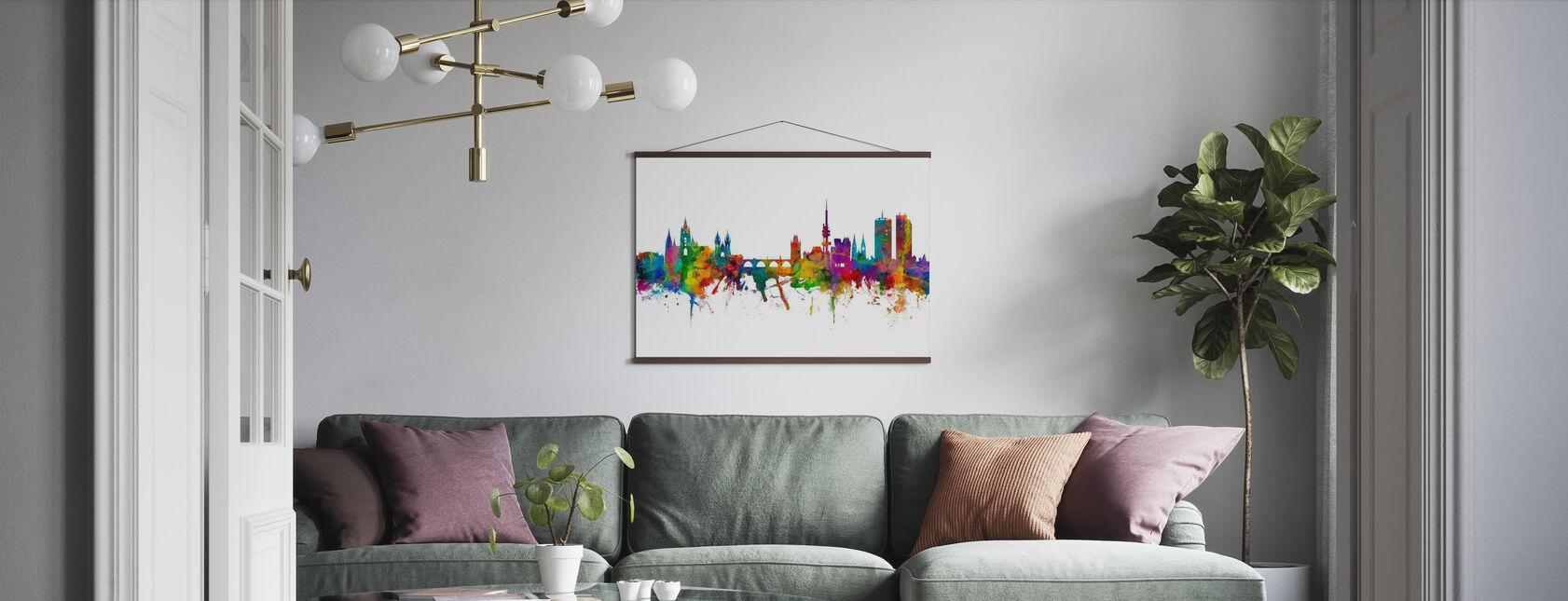 Prague Skyline - Poster - Living Room