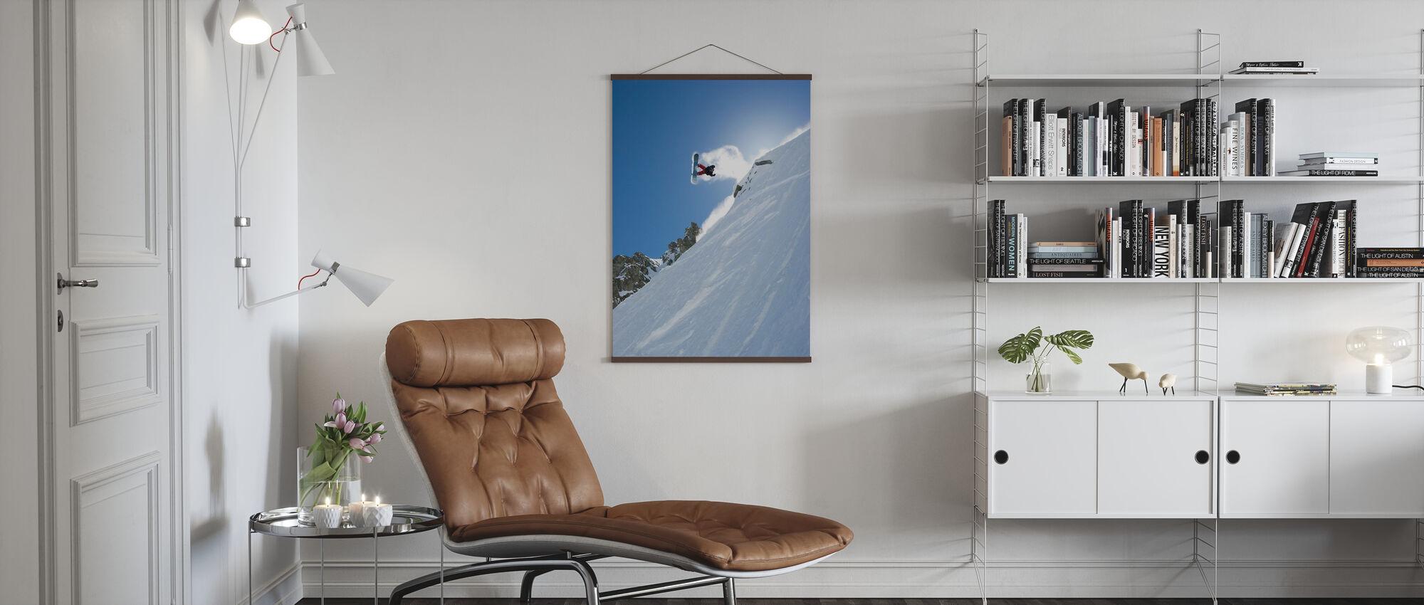 Off Piste, Chamonix, France, Europe - Poster - Woonkamer