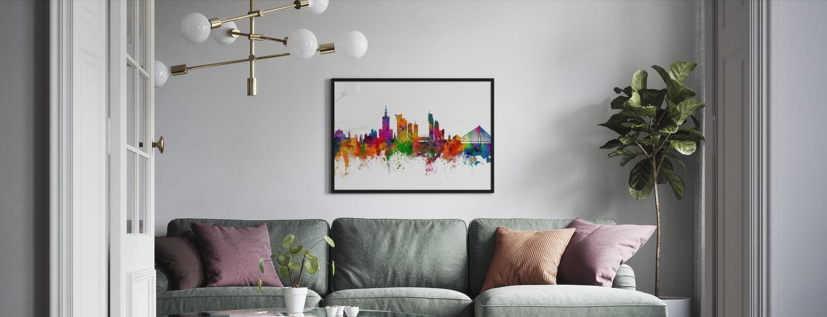 Warszawa Panorama - Obraz w ramie - Pokój dzienny