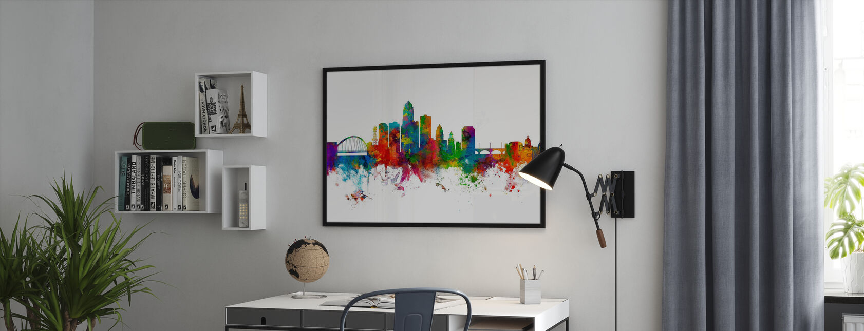 Des Moines Iowa Skyline - Poster - Kantoor