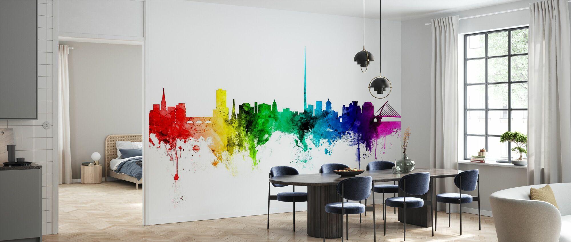 Dublin Skyline Rainbow - Wallpaper - Kitchen