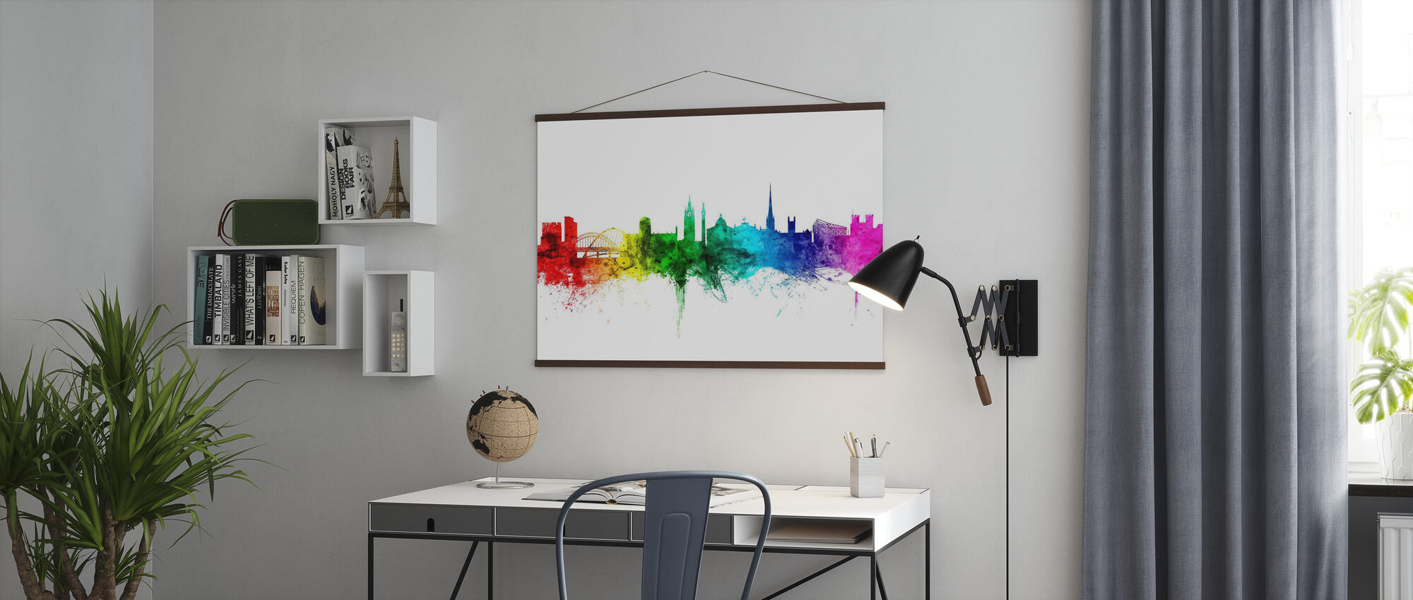 Newcastle Skyline Rainbow - Poster - Office