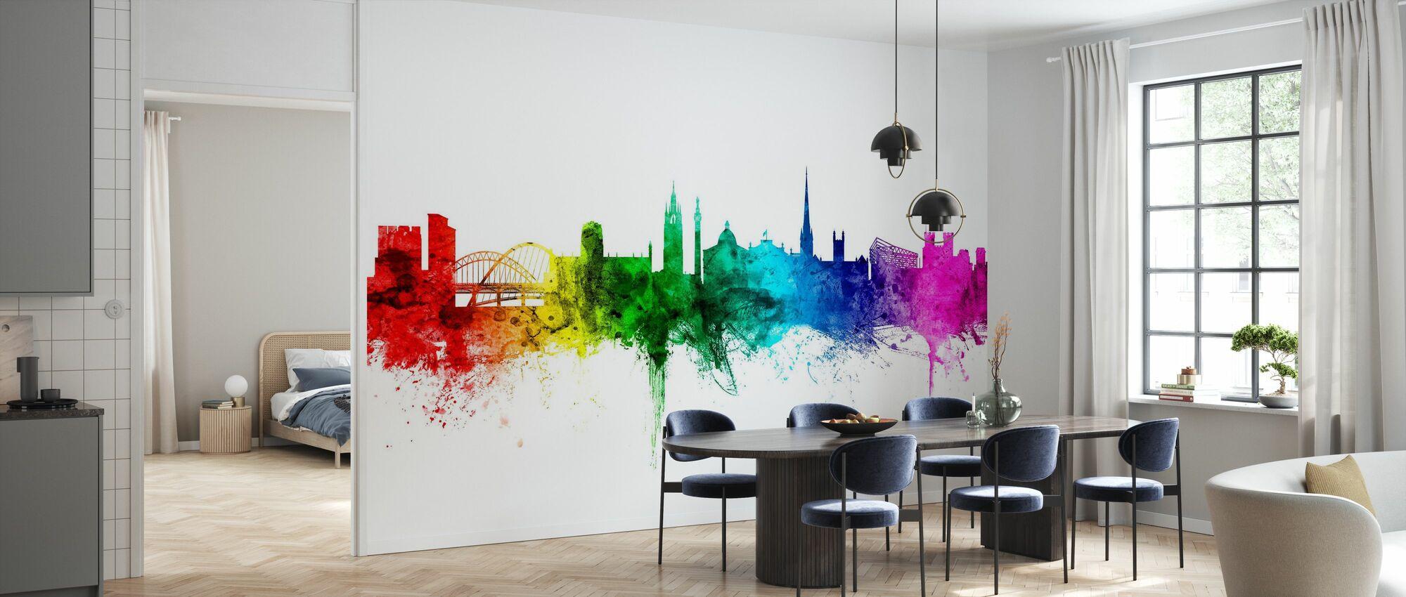 Newcastle Skyline Rainbow - Wallpaper - Kitchen