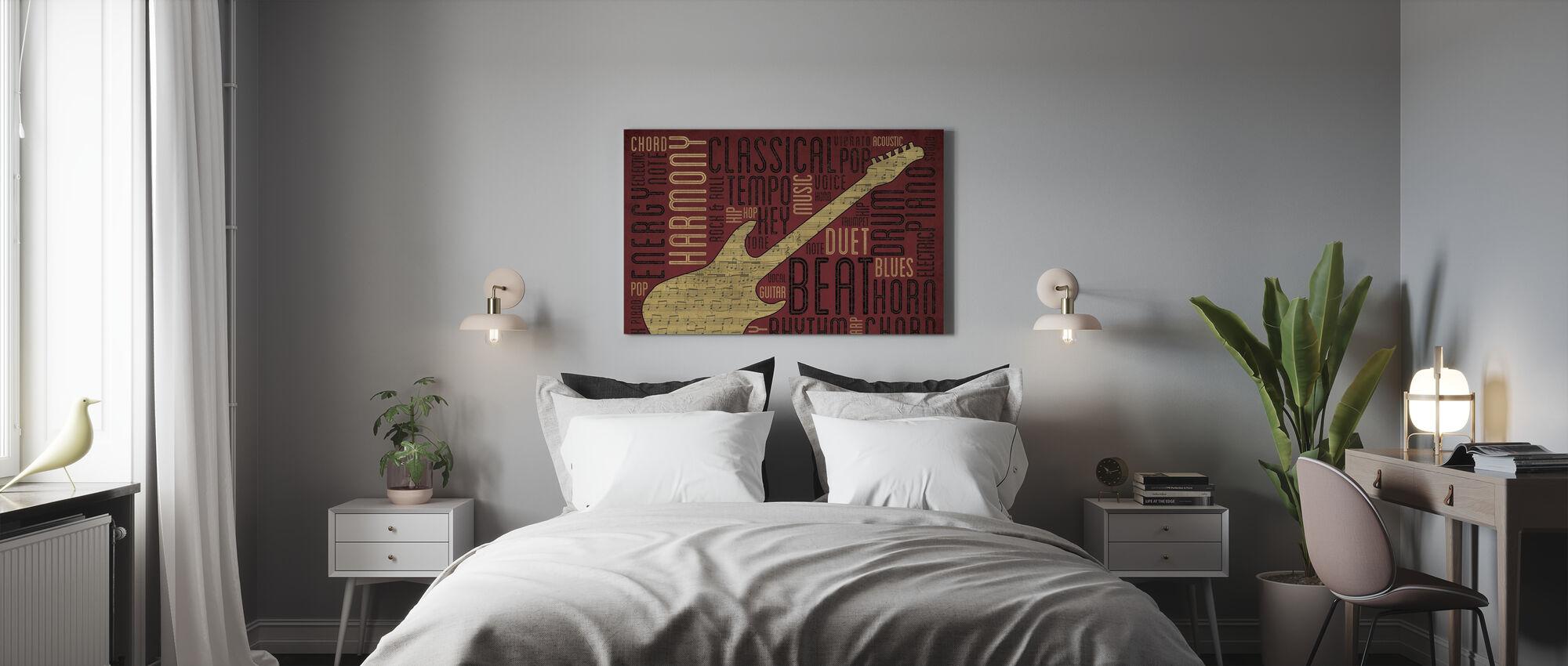 Guitar - Canvas print - Bedroom