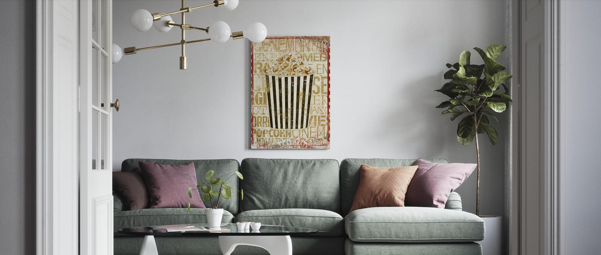 Cinema Popcorn - Canvas print - Living Room