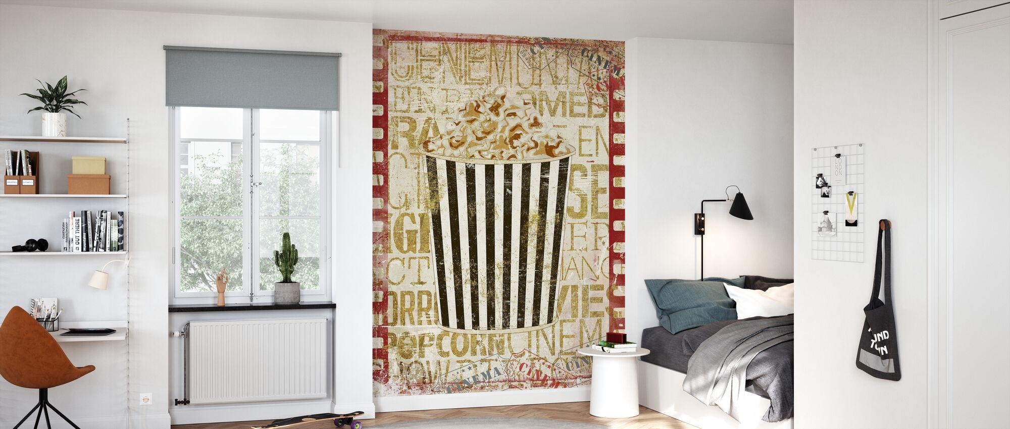 Kino Popcorn - Tapete - Kinderzimmer