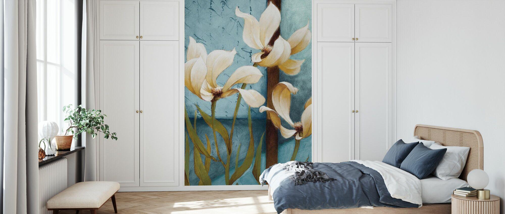 Magnolia Schilderij - Behang - Slaapkamer
