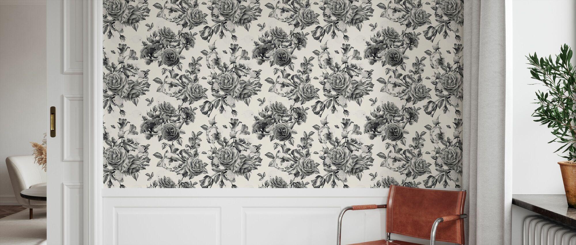 Twilight Roses Pattern - Wallpaper - Hallway