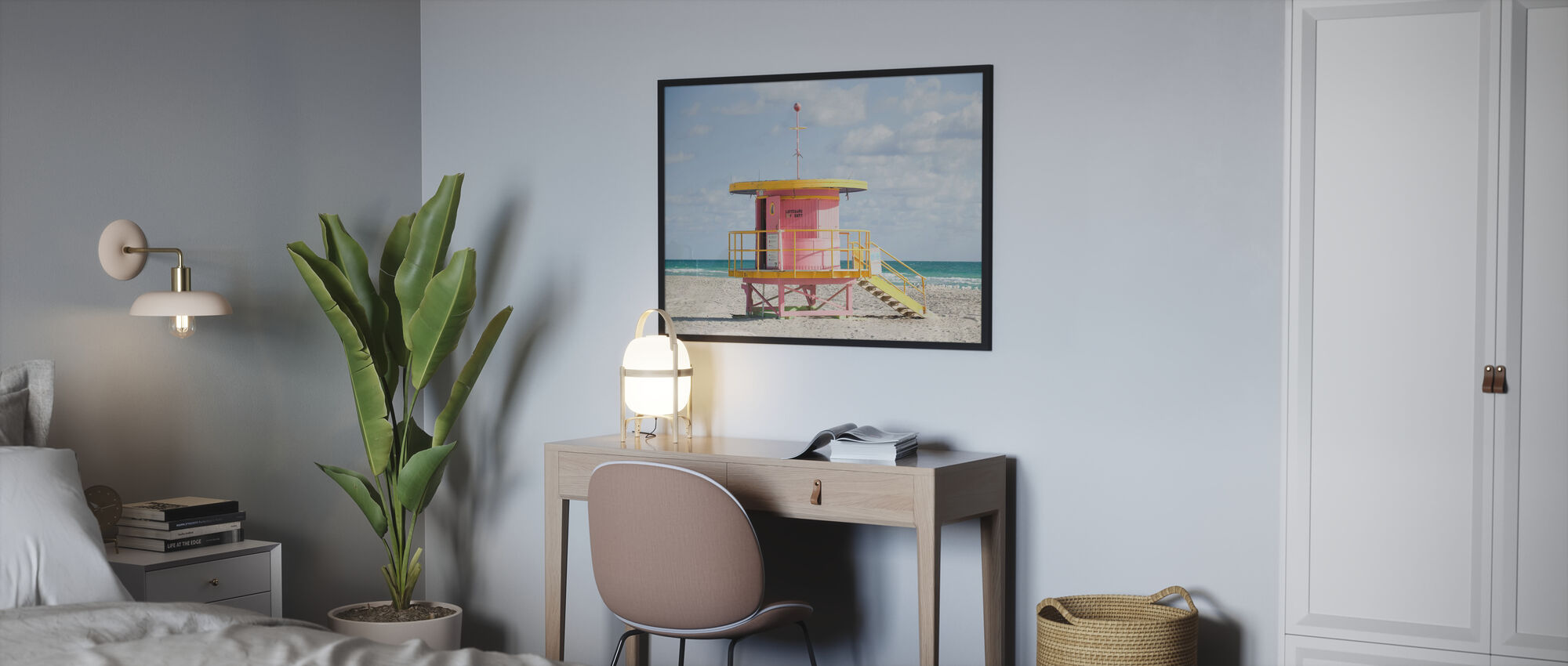 Lifeguard Tower in Miami, USA - Poster - Bedroom