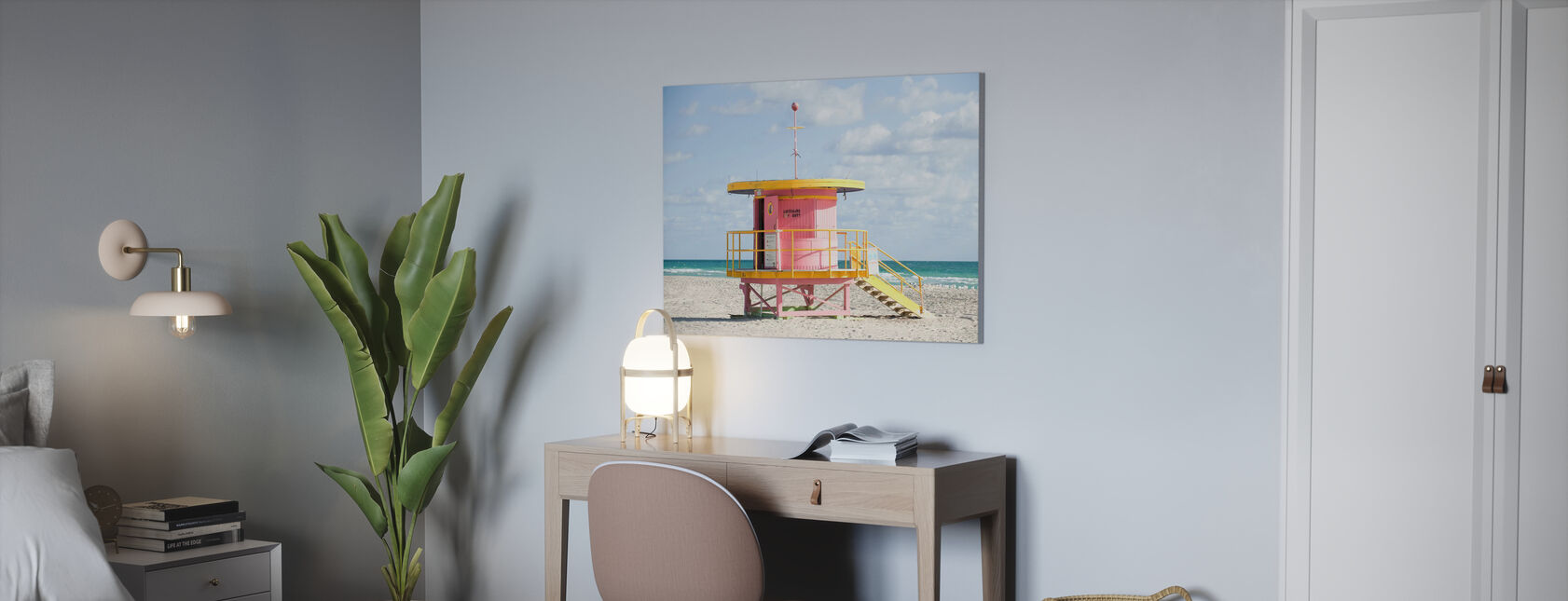Lifeguard Tower in Miami, USA - Canvas print - Office