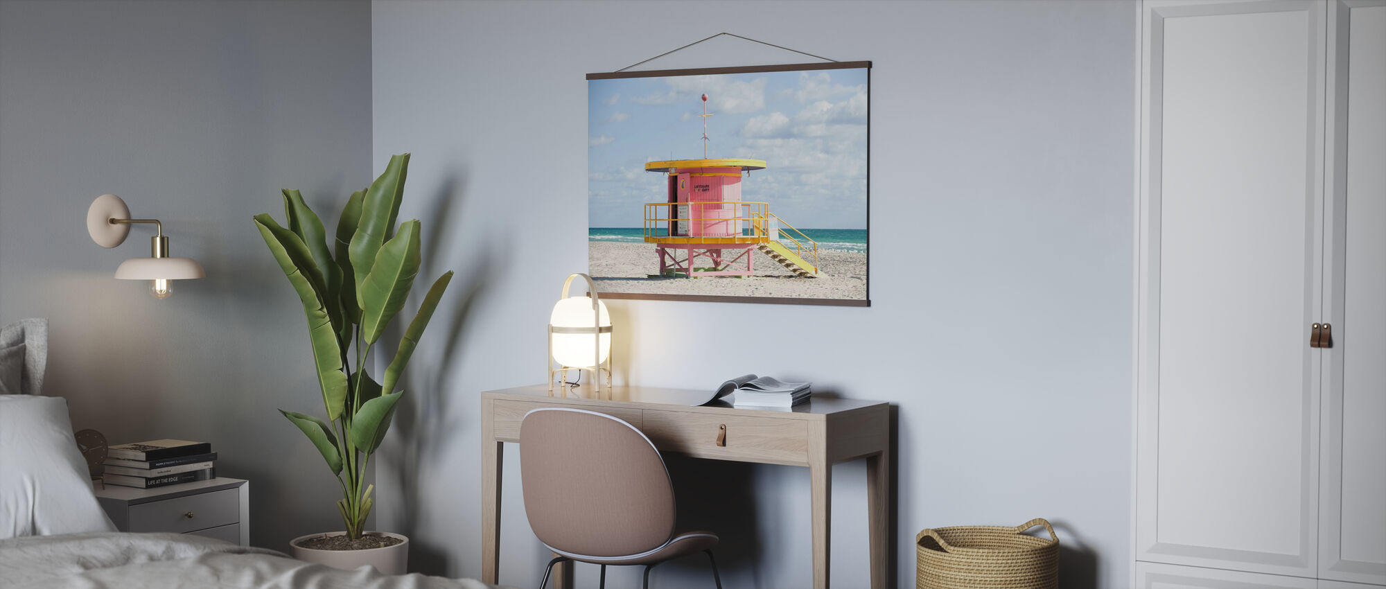 Lifeguard Tower in Miami, USA - Poster - Office