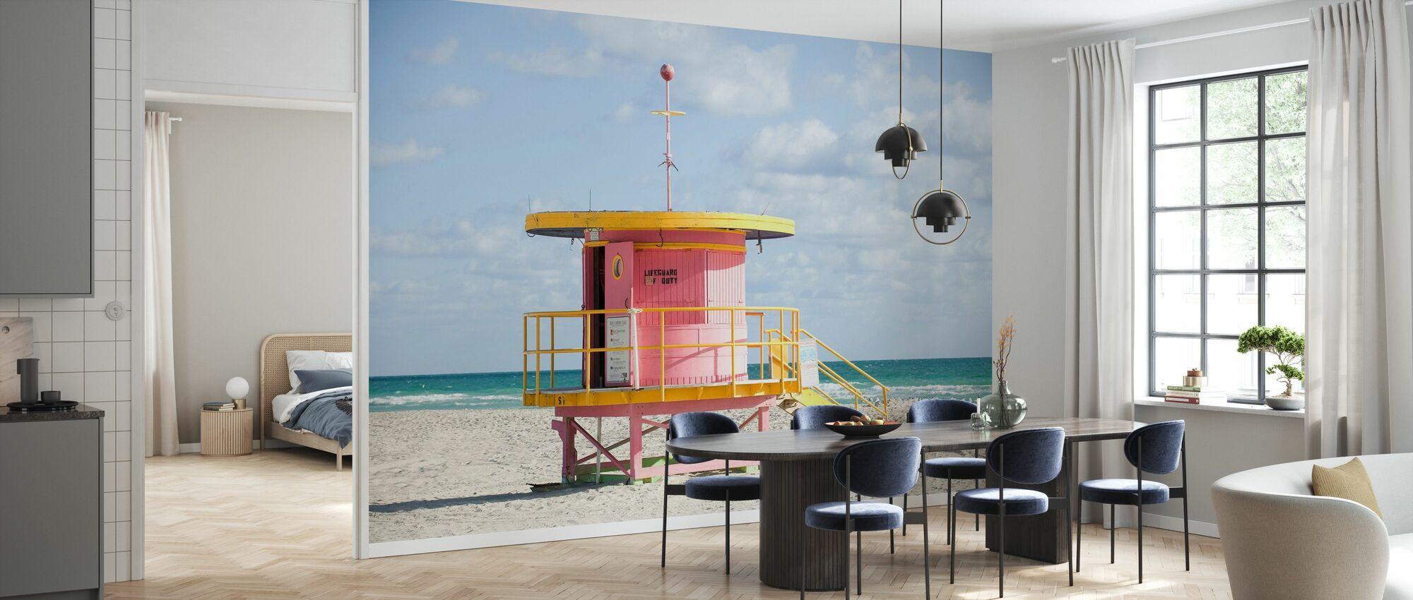 Rettungsschwimmer Tower in Miami, USA - Tapete - Küchen