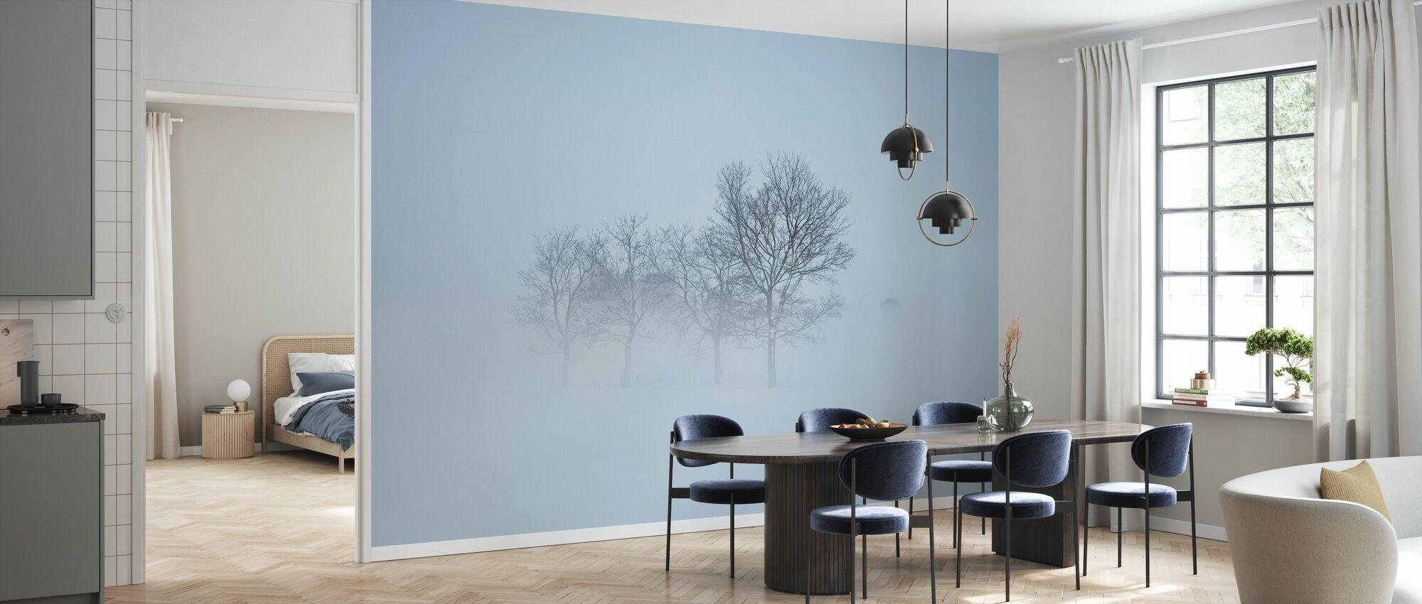 Stockholm Field gömmer sig i dimma, Sverige - Tapet - Kök
