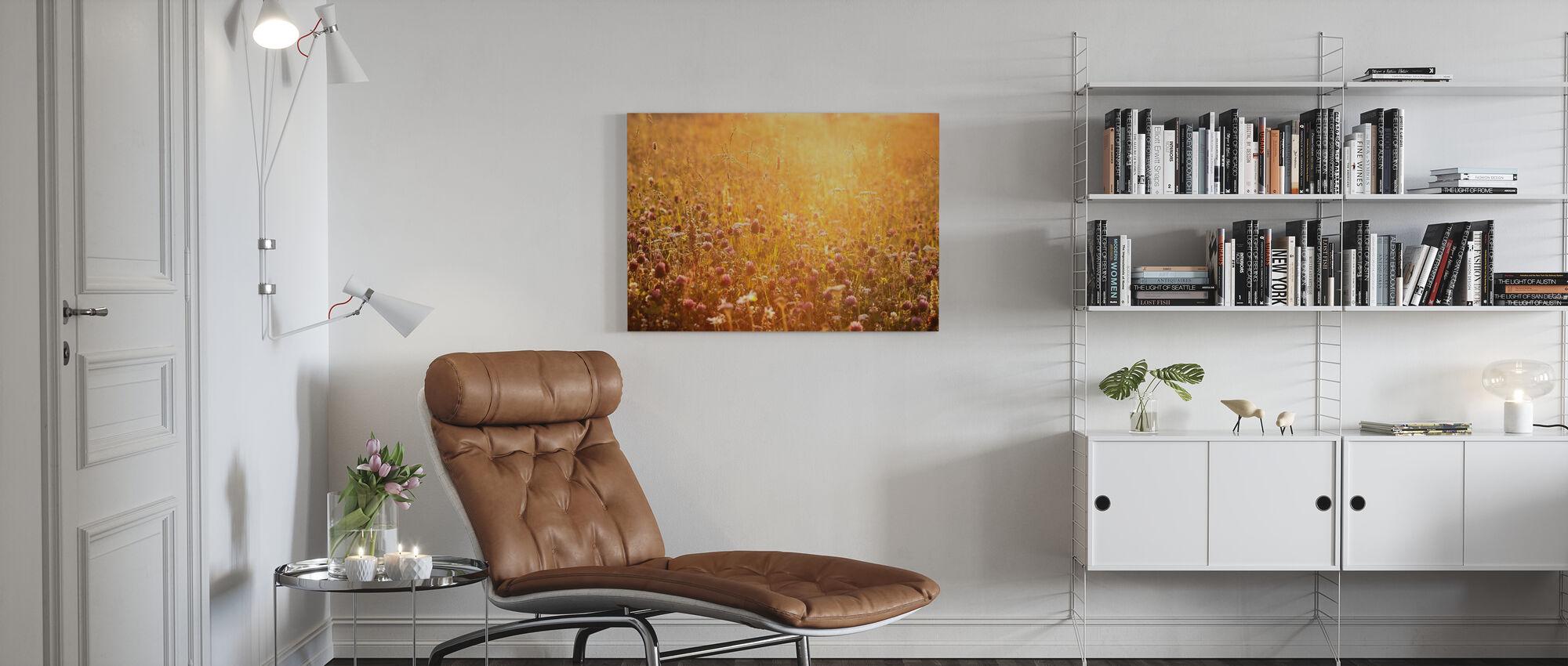 Evening Clover - Canvas print - Living Room