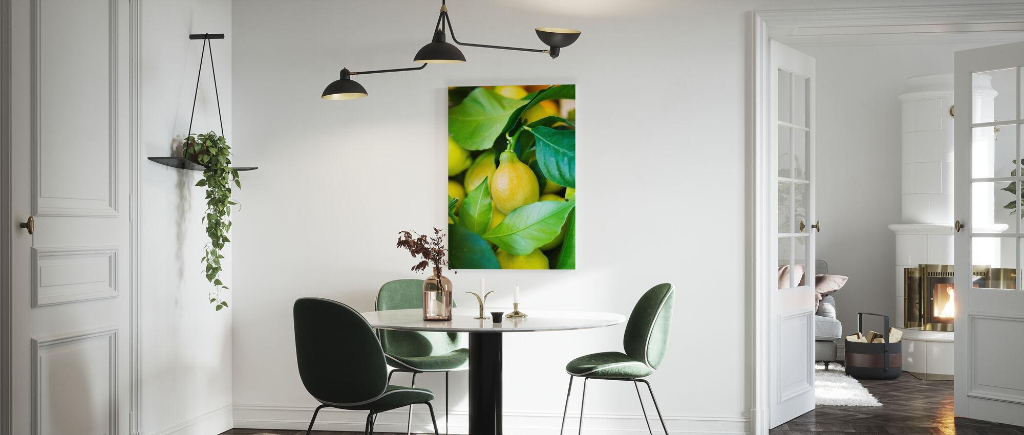 Französisch Zitrone - Leinwandbild - Küchen