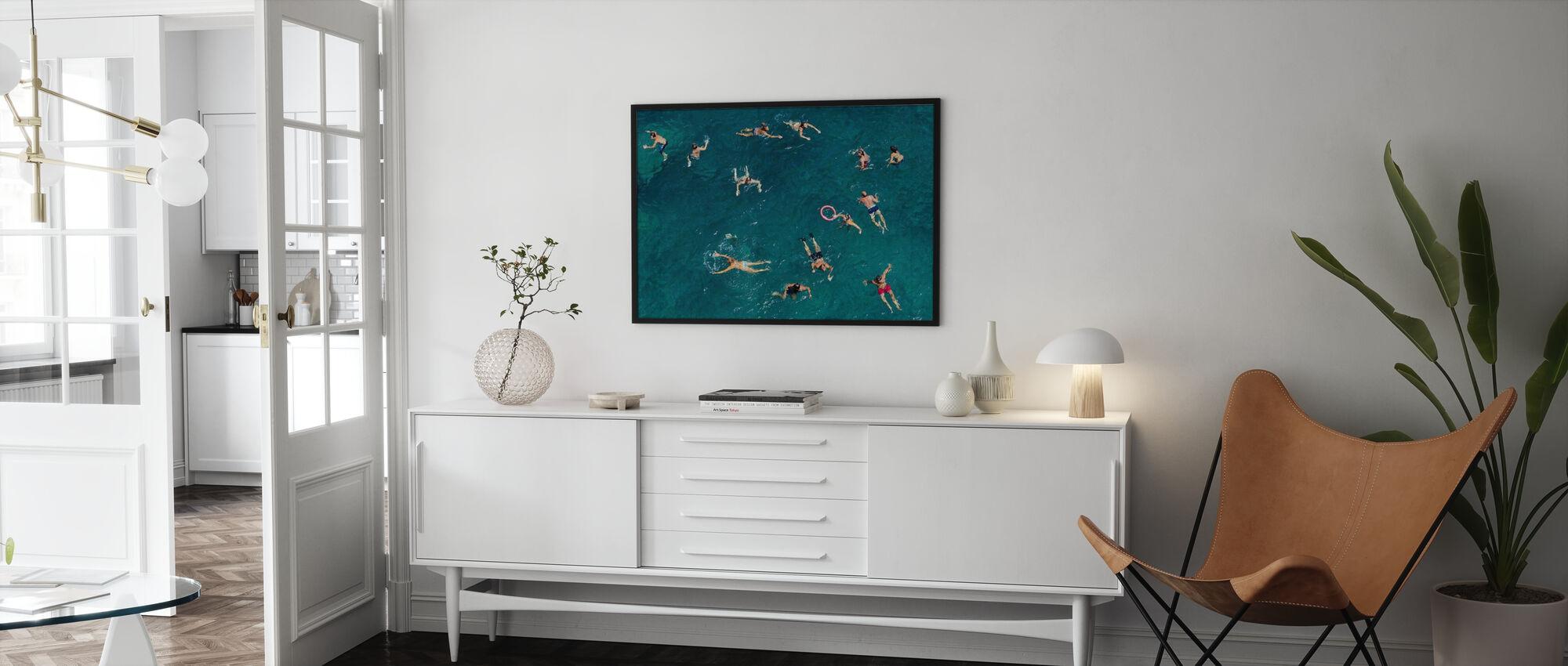 Schwimmen in Puglia Beach, Italien, Europa - Poster - Wohnzimmer