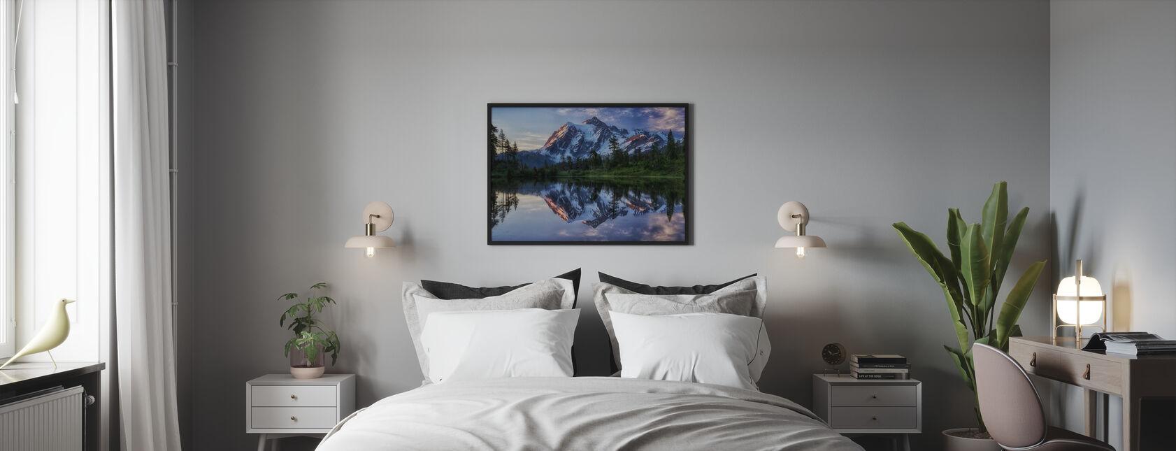 Sunrise on Mount Shuksan, Washington, USA - Poster - Bedroom